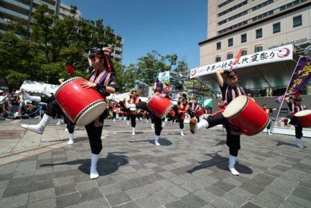 第44回・中央公園ステージ・エイサー・千葉市立稲毛高等学校附属中学校